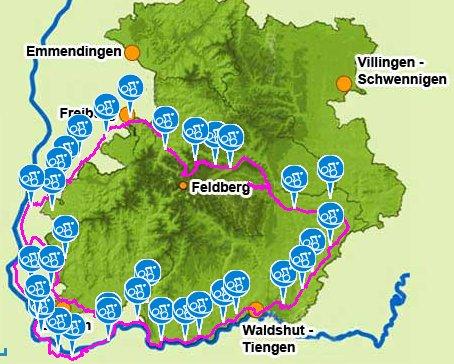 Der Südschwarzwald-Radweg führt direkt durch Lausheim